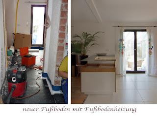 Moderne Kücheninsel mit Edelstahl - Arbeitsplatte passt perfekt zu alter Landhausküche
