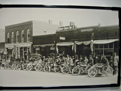 Early 1900s Motorcycle Gathering