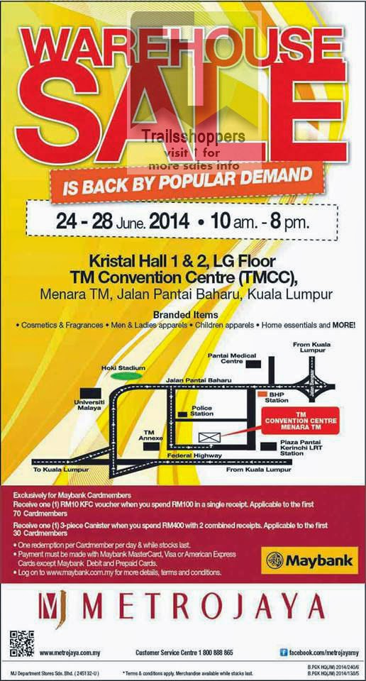 Metrojaya Warehouse Sale Maybank Menara TM Malaysia