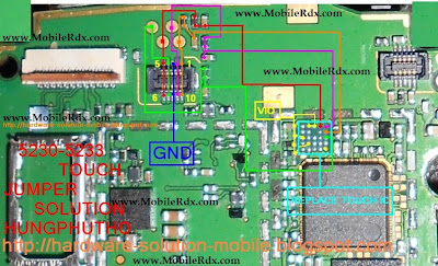 Nokia 5800 Touch Screen Jumper Track Ways