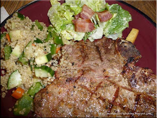 grilled steak with quinoa salad