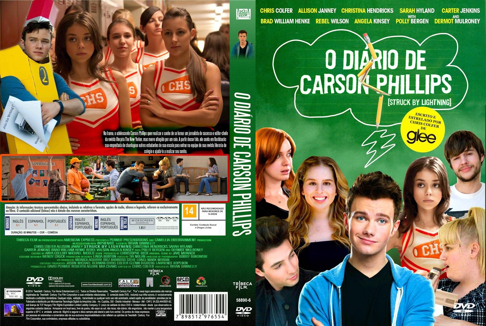 Capa DVD O Diário De Carson Phillips