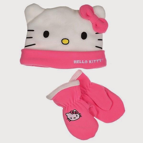 Gambar Topi Hello Kitty Lucu Penutup Kepala Sarung Tangan Hello Kitty