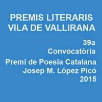 'Premis Literaris Vila de Vallirana 2015'