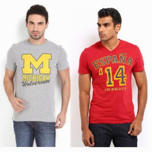 Men's T-Shirt Flat 60% off from Rs.159 – Myntra