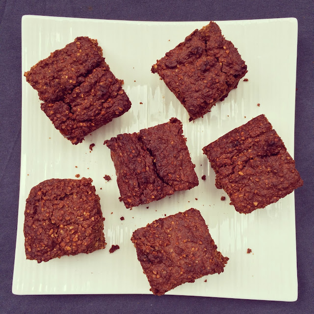 brownies courge, orange et dattes