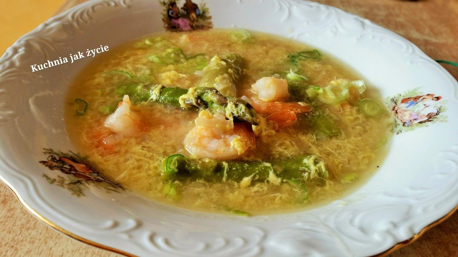 Zupa Szparagowa Z Krewetkami Kuchnia Jak życie