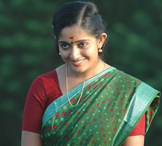 Kavya Madhavan with beautiful smil