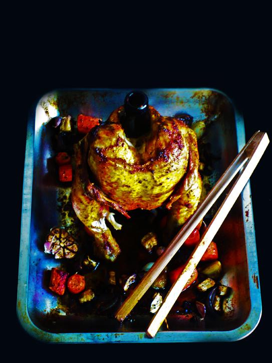 Burczymiwbrzuchu Kurczak Pieczony Na Miodowym Piwie