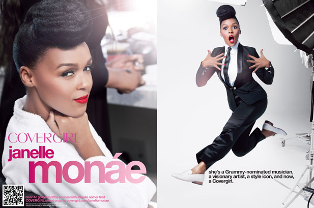 JANELLE MONAE THE NEW FACE OF COVERGIRL