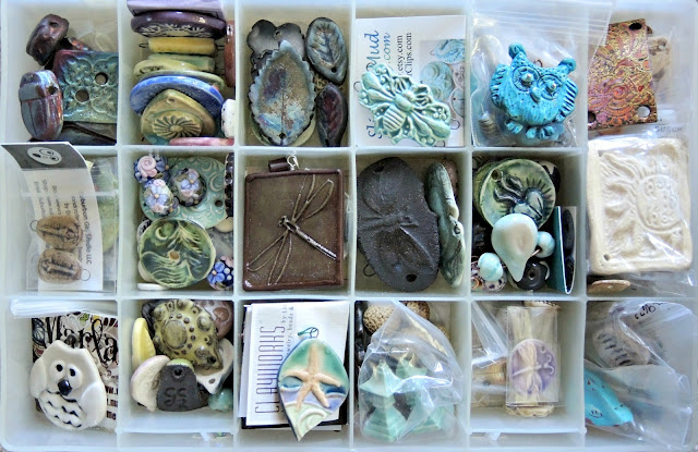 Ceramic and polymer clay artist beads and pendants