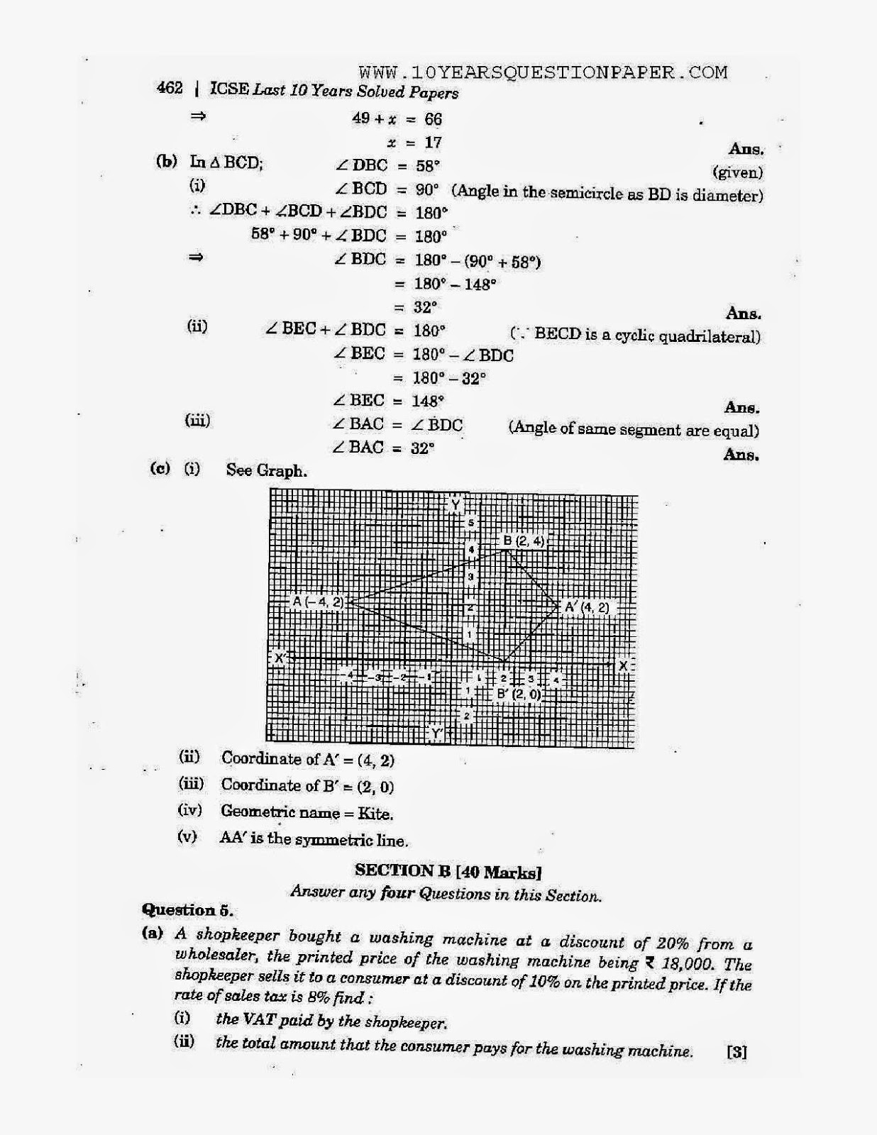 2008 icse mathematics question paper Learn math online mathematics website for icse & isc students for school students free math lessons solved icse & isc board papers sample problems solved.