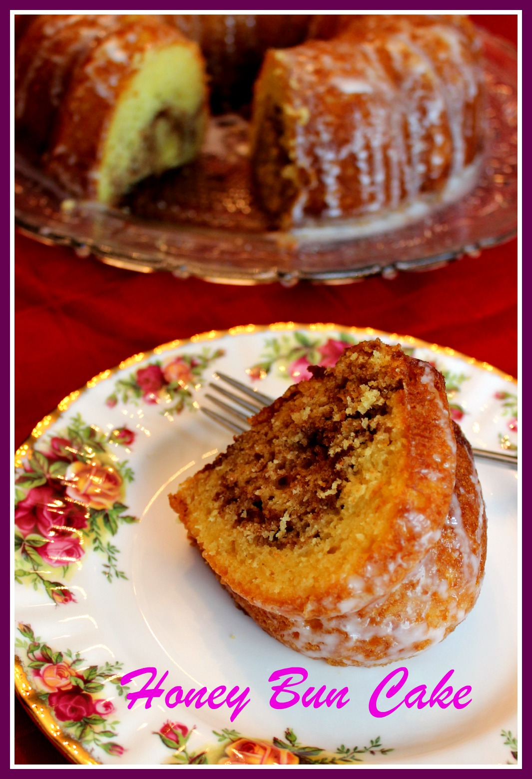Honey Bun Cake Bundt Pan