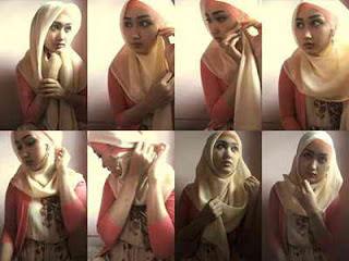 cara pakai jilbab