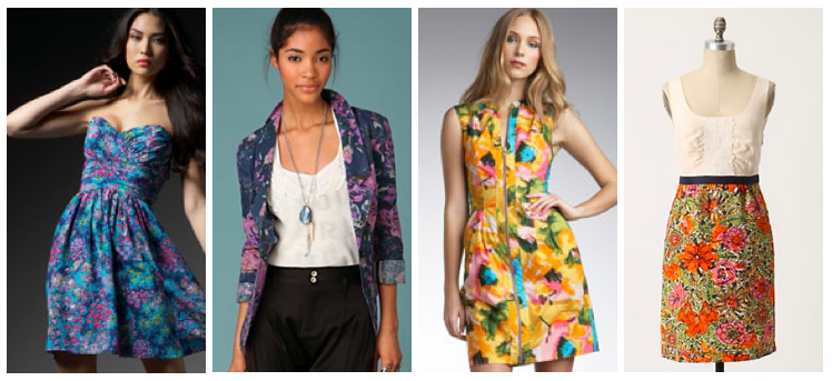 Fashion 2015: floral dresses, tops, and skirts