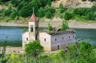 old church Mavrovo Lake, National Park Mavrovo, Republic of Macedonia