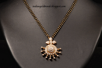 Check out gold mangalsutra necklace or short chain model nallapusalu