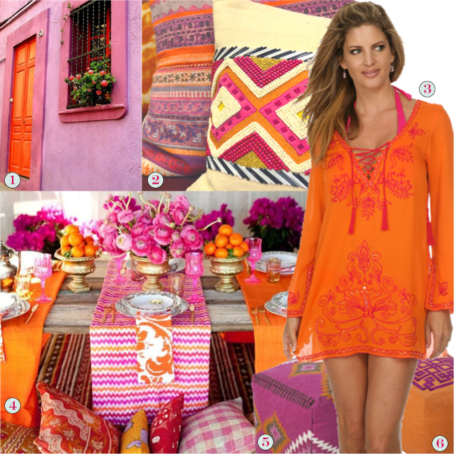 Orange and Fuchsia inspiration