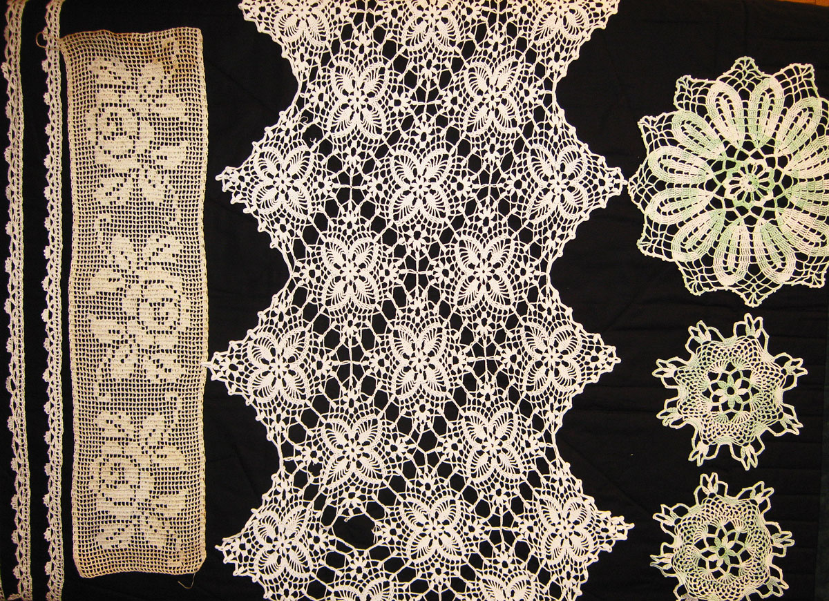 Some of the lace doili...