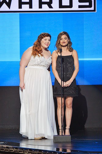 Lucy Hale and Mary Lambert 2014 AMAs