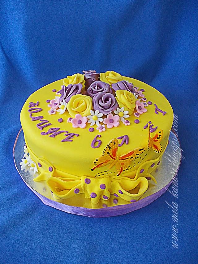 Желтый цвет для крема на торт