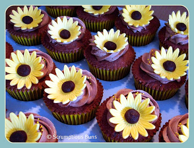 sunflower cupcakes for weddings