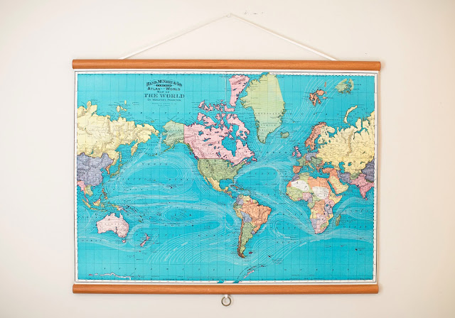 Pull-down map from Etsy