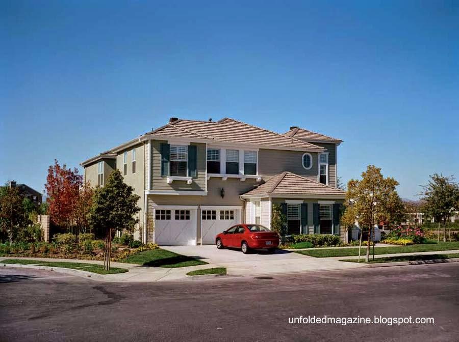 Casa residencial americana de dos plantas en California