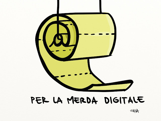 gavavenezia gava vignette illustrazioni caricature ridere piangere pensare satira grillo digitale schizzi carta ignica chiocciola paper shit web democrazia dal basso streaming