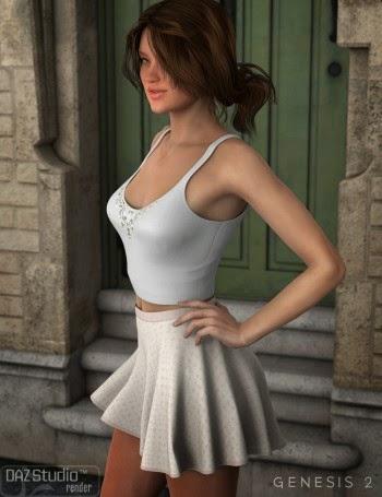 3d Models - Flirty Summer for Genesis 2 Female(s)