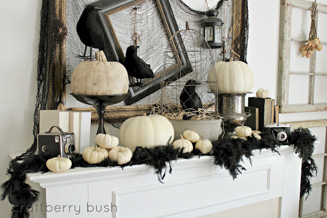 Halloween Mantel {Craftberry Bush}