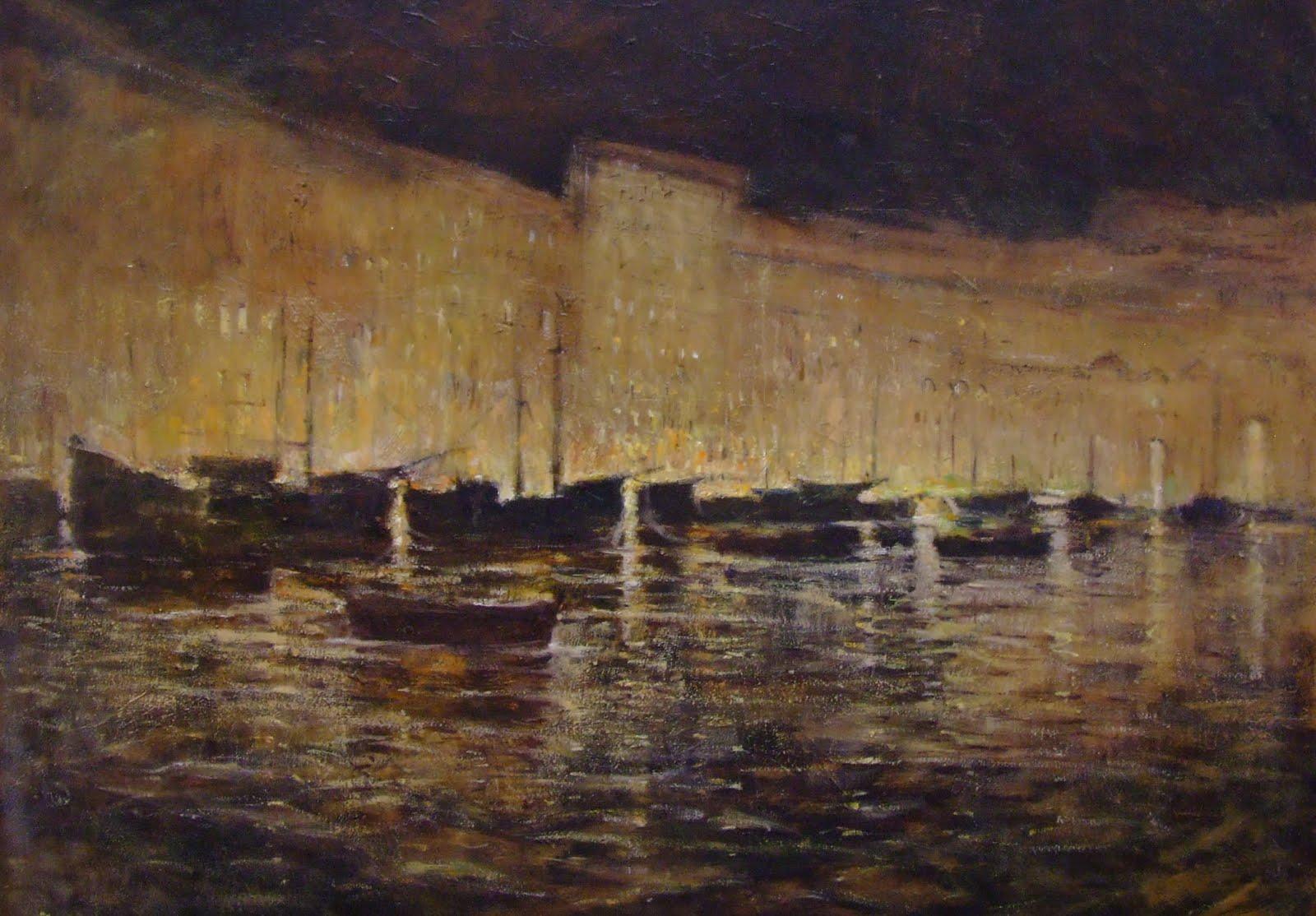 Notturno sul Porto-  Portoferraio