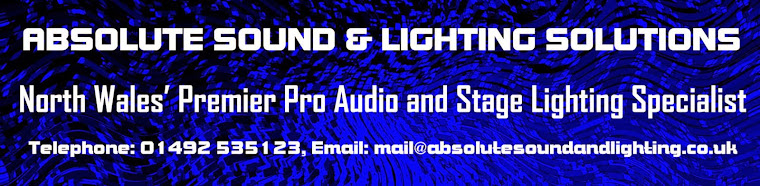 Absolute Sound and Lighting Solutions - the local music and DJ shop in Colwyn Bay