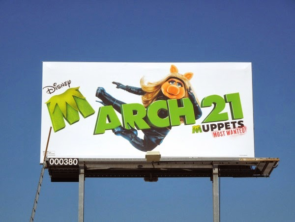 Muppets Most Wanted Miss Piggy movie billboard