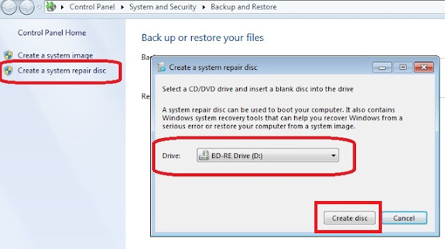 Cara backup data dan restore windows 7 d