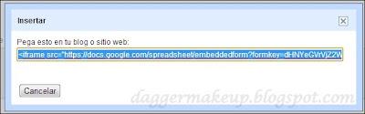 Código HTML para insertar nuestro formulario
