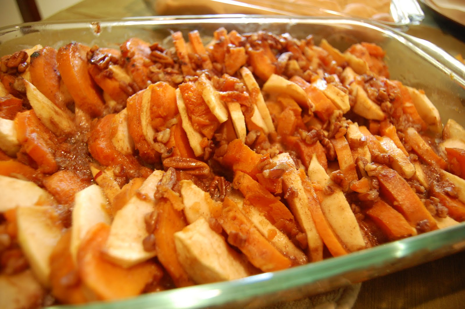Roasted Apples and Sweet Potatoes with Honey Glaze