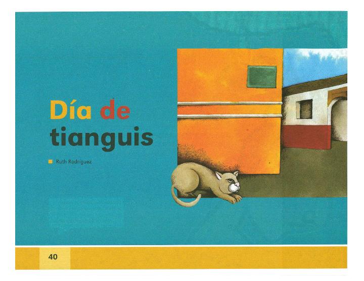 Día de tianguis español lecturas 2do bloque 5/2014-2015