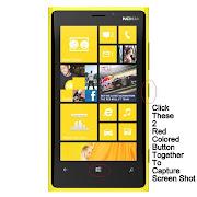 How to to take a screen shot/ capture Nokia Lumia Windows Phone 8 Smartphone .