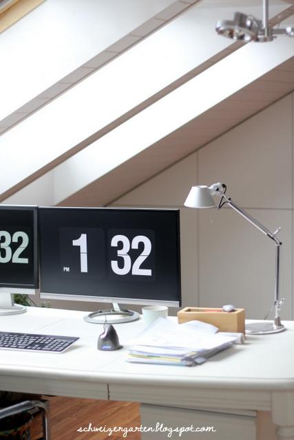 home office mit dachfenster ideen bilder, ein schweizer garten: büro-update n°1, Design ideen