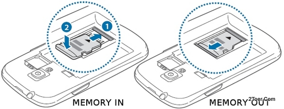 Insert Remove microSD Memory Card Samsung Galaxy S3 GT I8190