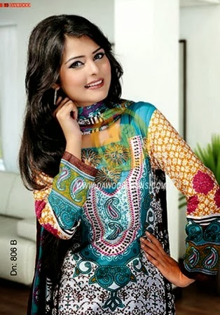 Dawood Lawn 2014 Collection