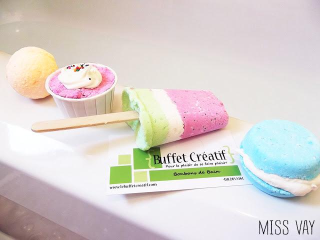 le buffet créatif bonbons effervescents sucreries friandises desserts marché curiosités bain