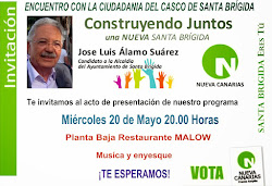 Este miercoles Acto de Nueva Canarias en el Casco