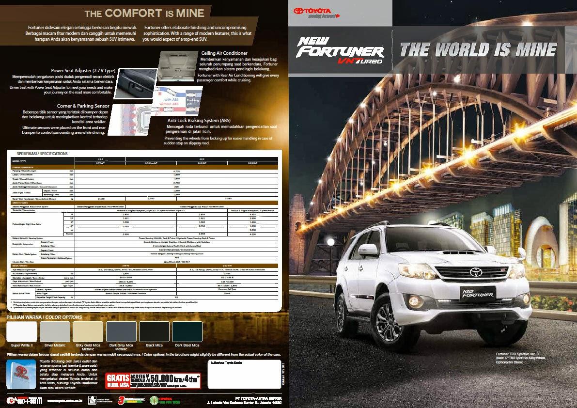 Brosur Toyota Fortuner 2015 - Dealer Jogja