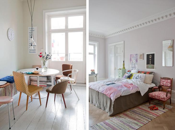 eclectic scandinavian interior