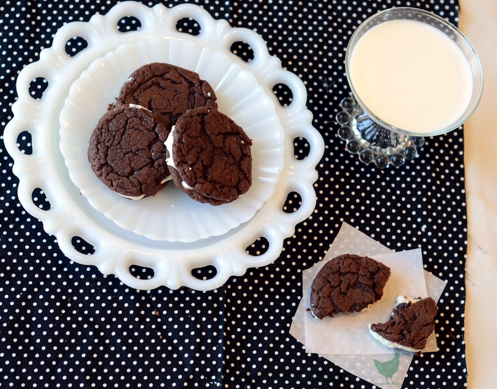 Chocolate cake mix oreo cookies recipe