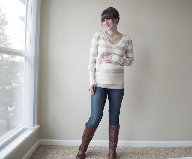 Tự làm quần Jeans cho mẹ bầu năng động - Ảnh 6