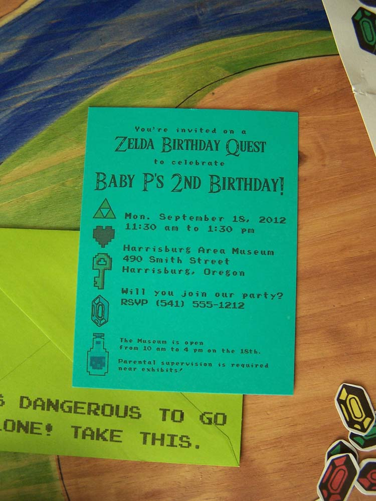 Night garden blog zelda invitations featuring our hero link stopboris Gallery