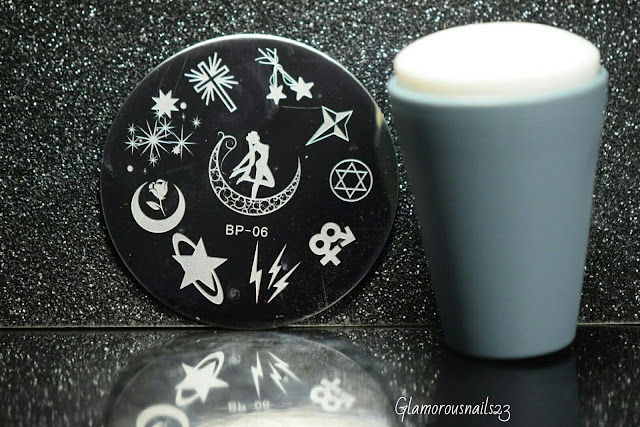 Born Pretty Store BP-06 Sailor Moon Stamping Plate, Bundle Monster Mega Squishy Silicone Stamper